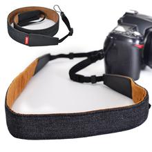 CADeN na ramię pasek do aparatu DSLR aparat cyfrowy lustrzanka Canon Nikon zysk za regulowany uniwersalny akcesoria do aparatu pasek na pasek tanie tanio CN (pochodzenie) Shoulder Neck large(70*0 5*3 5) small(70*0 5*2)cm black Adjustable Camera Shoulder Neck Strap Belt For Sony Nikon Canon SLR DSLR Cameras