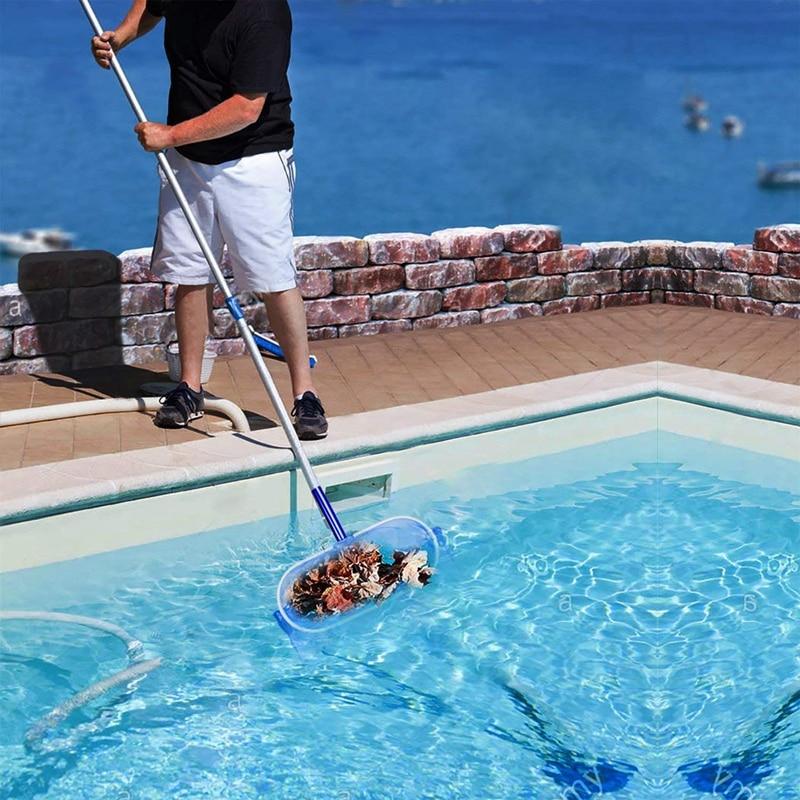 Купить с кэшбэком Heavy Duty Deep-Bag Pool Net Pool Skimmer Leaf Skimmer Rake - Fine Mesh Net for Cleaning Pool, Hot Tub, Spa, Removing Leaves & D