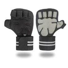 Перчатки для занятий тяжелой атлетикой для взрослых, ремешки на запястье для фитнеса, бодибилдинга, гимнастики, ручки, защита для ладоней, синтетические волокна