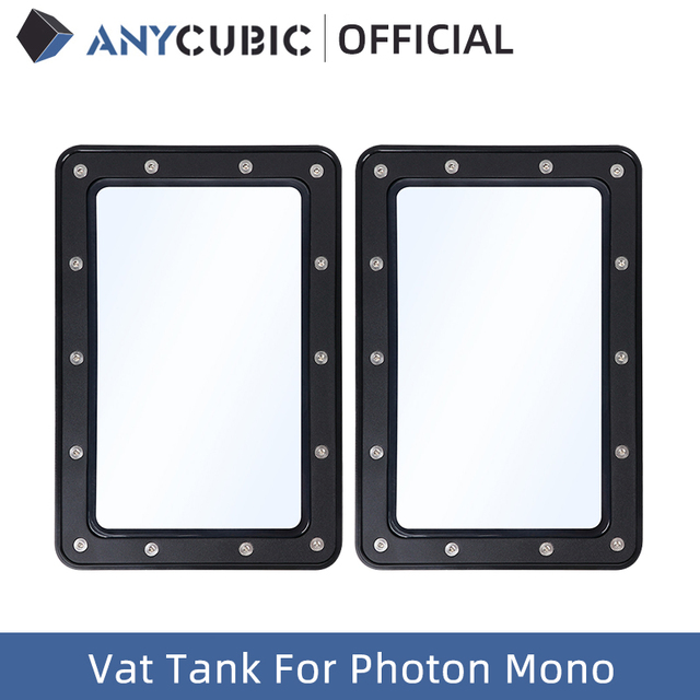 ANYCUBIC 2Pcs UV Resin Vat Tank For Photon Mono, 3D accessories, Material Rack 1