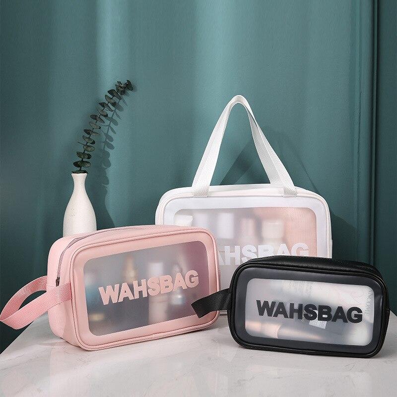 Makeup Bag Case PVC Cosmetic Handbag Make Up Travel Small Zipper Bag Cosmetic Organizer Box Makeup Bags Wholesale Wash Clear Bag