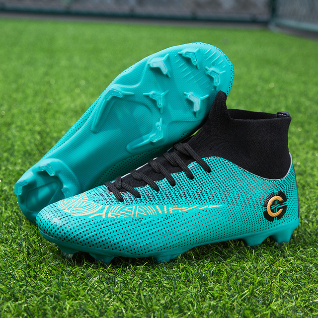 Men Large Size FG/TF Soccer Shoes Football Cleats Soccer Ankle Boots Teenager Training Sneakers Kids Indoor Sports Shoes Unisex 5