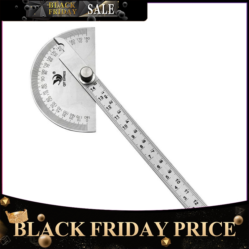 Protractor Angle Gauge Stainless Steel 180 Semicircle Degree