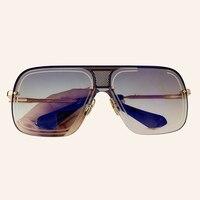 Vintage Mirror Sunglasses Men High Quality Vintage Square Sun Glasses Male