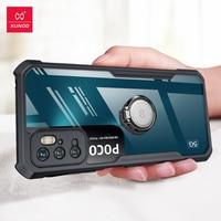 Xundd - Funda Por POCO M3 Prosoporte de Xundd caso de anillo para teléfono móvil POCO M3 Pro X3 F3 F2 estuche protector transparente a prueba de golpes a prueba de cubierta