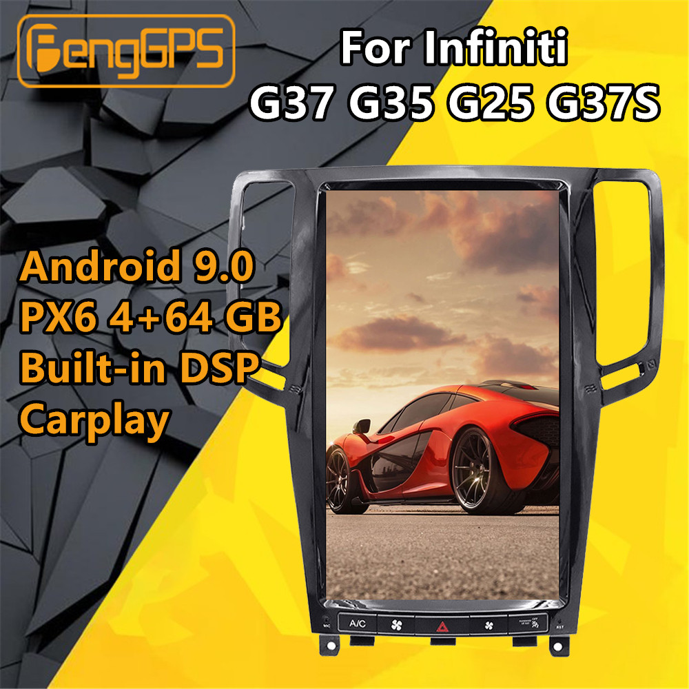 インフィニティG37 androidラジオG35 テスラPX6 カーマルチメディアプレーヤーG25 G37Sクーペステレオgpsナビゲーションヘッドユニットautoradio