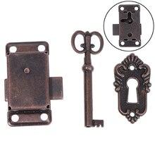 Furniture Hardware Wardrobe Jewelry Door-Lock Cupboard Cabinet Antique Drawer Key Wood-Box