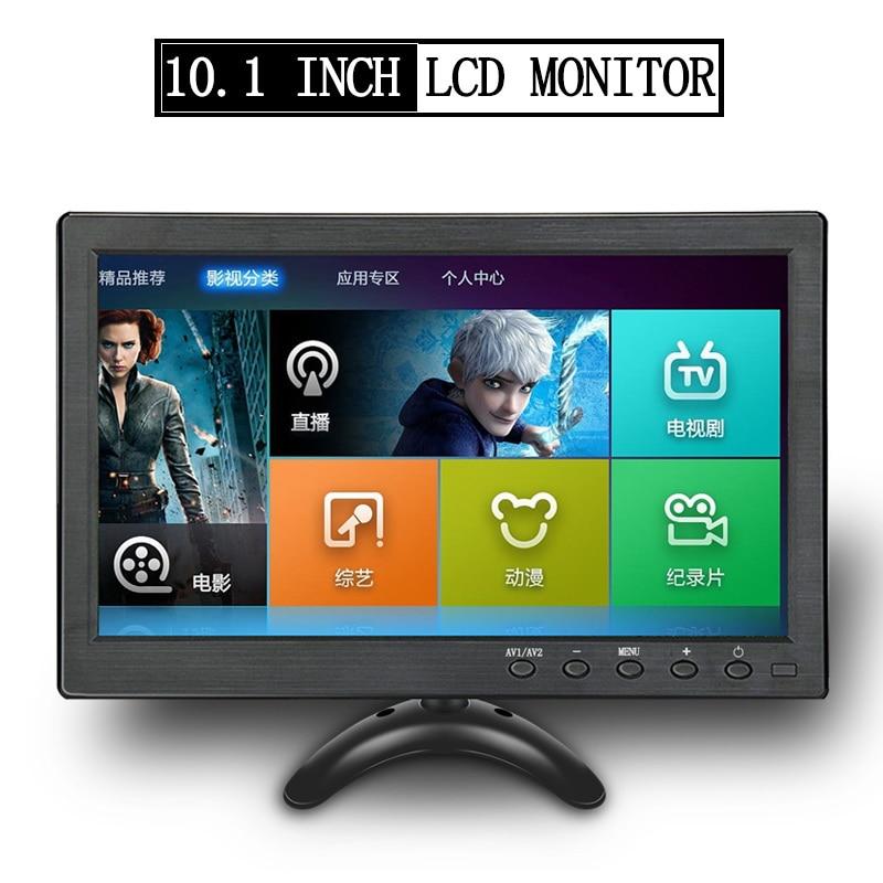 10.1 Polegada lcd monitor de carro mp5 player tela colorida ps3 ps4 xbox jogos para computador câmera reversa hd hdmi vga eletrônica automática hd