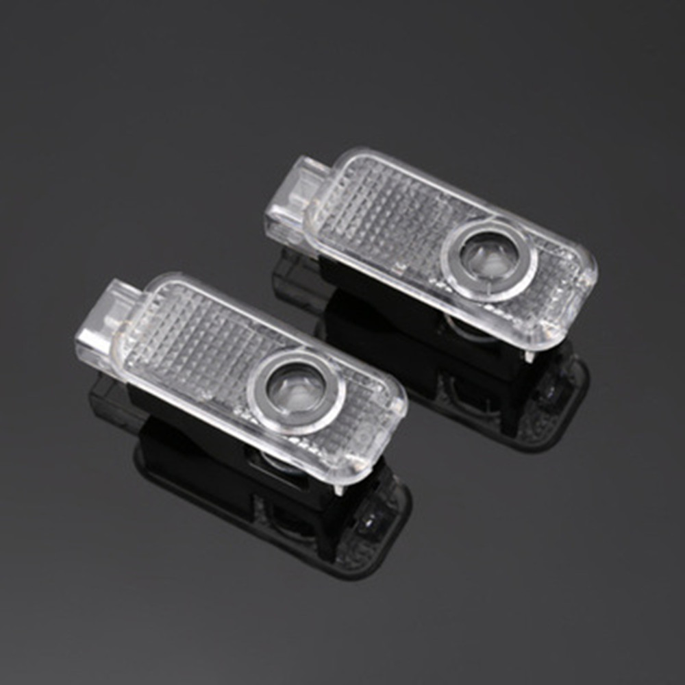 2pcs Car LED Door Logo Light For Audi A3 A4 B8 B6 A5 B7 A3 A6 C5 A6 C6 Q7 Q5 Q3 A1 A7 R8 TT TTS S Line Ghost Shadow Welcome Lamp