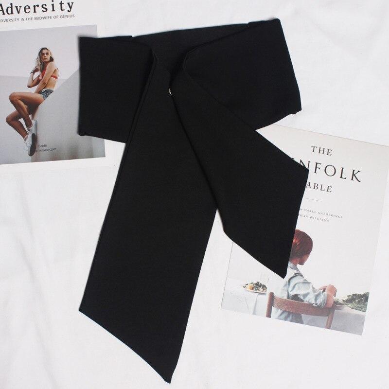 2020 Spring Hot Sale Fashion Trendy Corset Belts For Women Solid Black Satin Waistband Female Long Elastic Wide Belts Tide ZK292