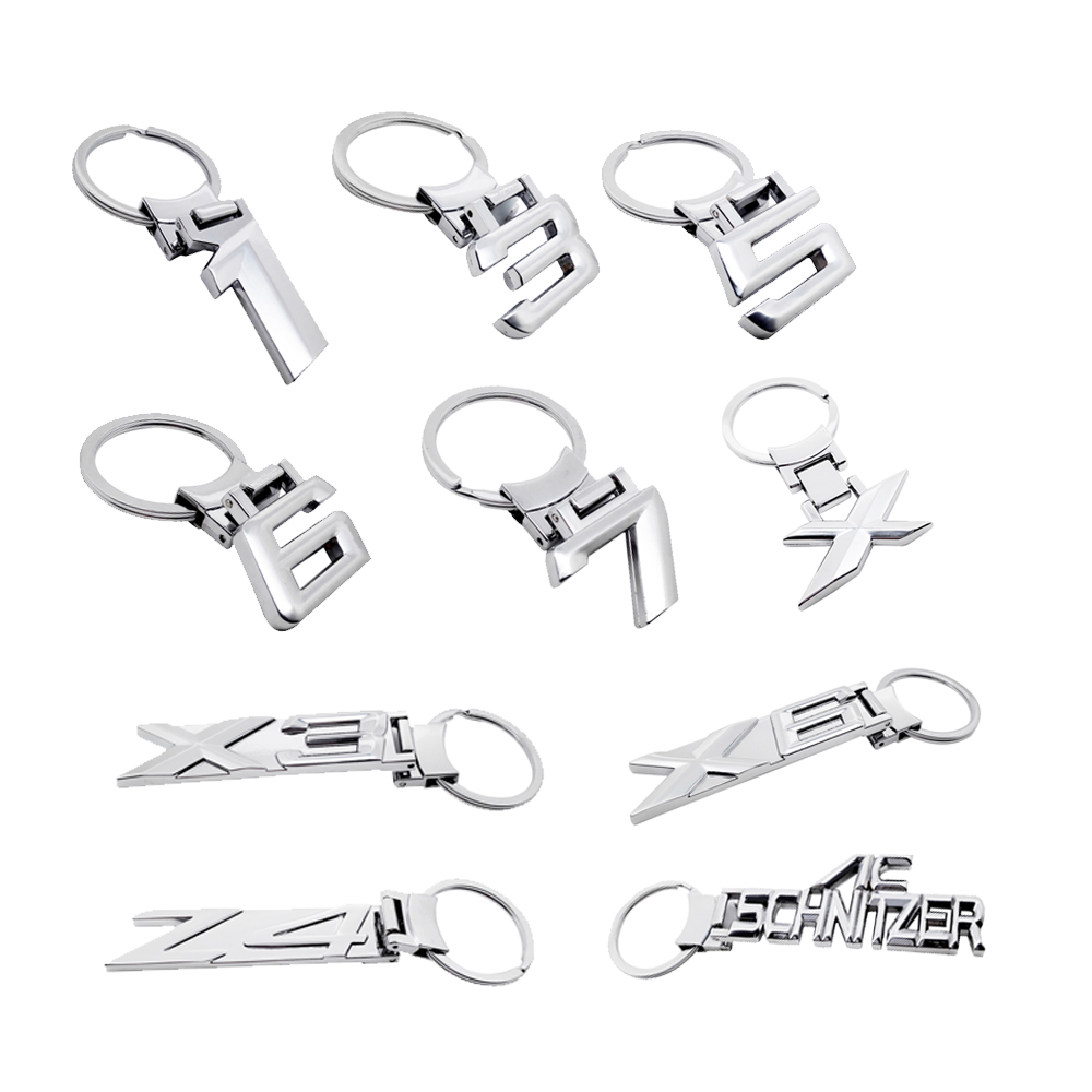 Car KeyChain KeyRing for <font><b>BMW</b></font> E39 E46 E60 E90 F10 F30 1 <font><b>3</b></font> 5 6 7 Series X3 G01 X5 E50 E70 X6 F16 E71 Z4 Key Chain Metal Key Holder image
