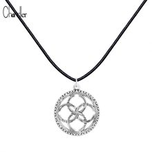 Interlocking Circle Silver Slavic Pendant soul god runes Necklace wedding family Accessaries Infinity Coller For Men Luxury(China)