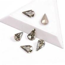 Блестящие камни для ногтей в форме груши