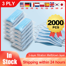 Disposable Medical font b Mask b font Non Wove 3 Layer Ply Filter Safe Breathable Surgical