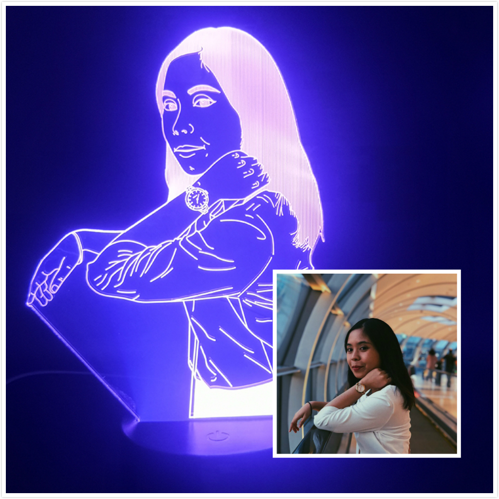 3D Lamp Custom Portrait The Beauty For Birthday Decoration Bright Base Directly Supplyvisual Light Effect Led Night Light Lamp