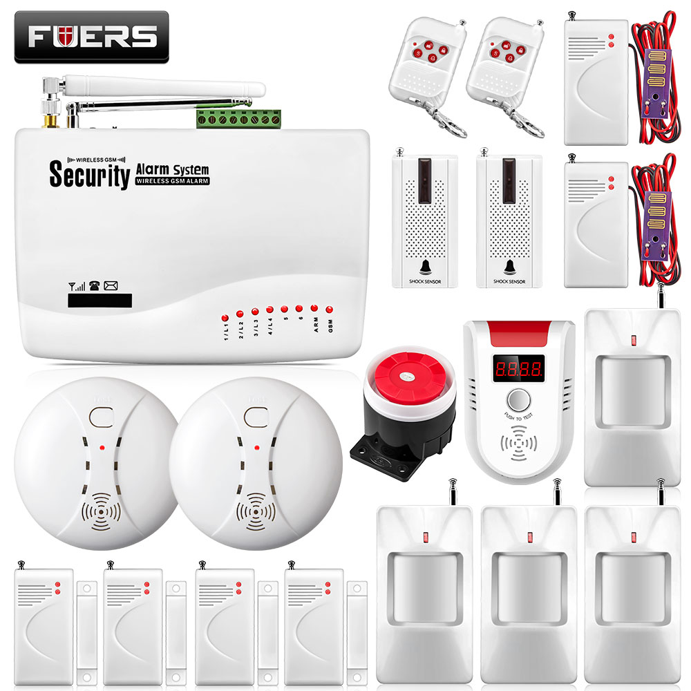 FUERS 10A APP Control GSM Alarm Security System Home Garage Motion Sensor Russian English Spanish Voice Security Auto Dial DIY