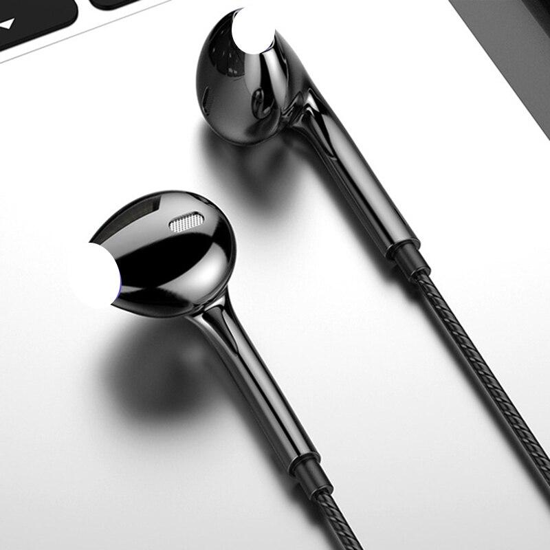 Проводные наушники-вкладыши с разъемом типа C, стереонаушники для Xiaomi, Huawei, Samsung, спортивные наушники для бега с усиленными басами, Hi-Fi наушни...