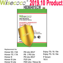 Wisecoco 4800mAh HB366481ECW Batterie Pour Huawei P9 5C (P9 G9 P10 Lite) G9 Honneur 7C 7A 8 8E Lite/Y6 II EVA-AL00/AL10/L09/TL00(China)