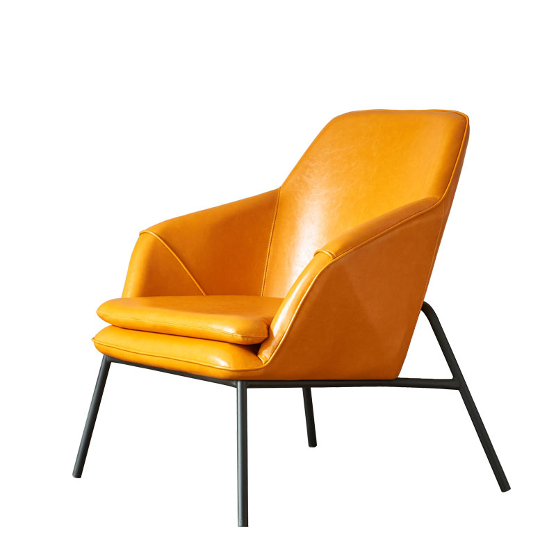Single sofa chair Nordic designer simple creative cafe balcony leather art living room leisure negotiation chair