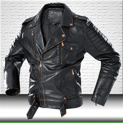 Men Fashion Leather Jacket Coat 2020 Brand New Motorcycle Leather Jacket Men Faux Leather Jackets Winter Windbreaker Coats