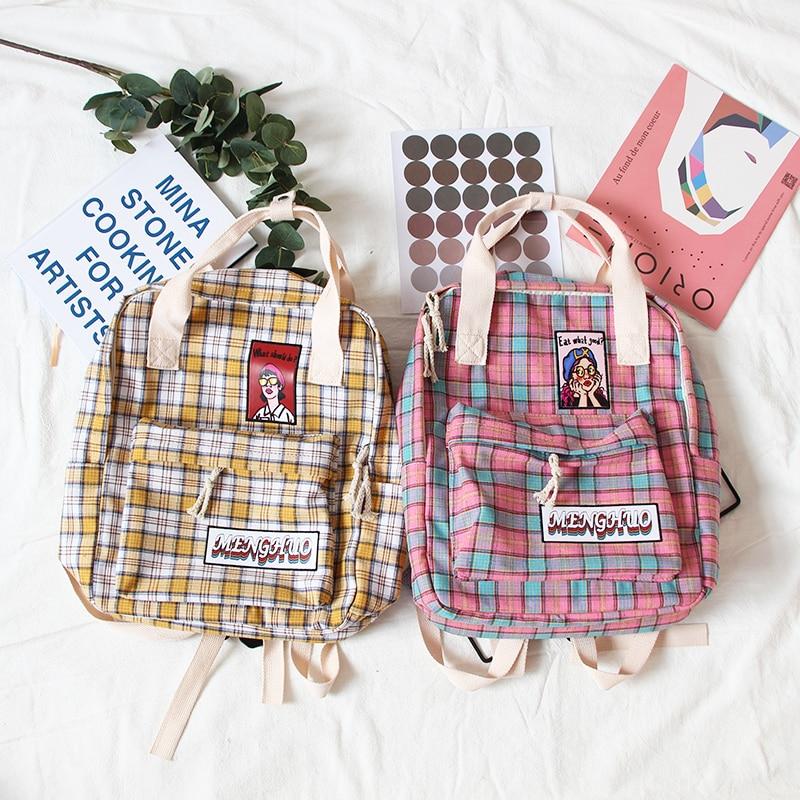 Japanese Soft Sister Chic Bag Female Korean Version Of Small Fresh Harajuku Student Mori Canvas Backpack Ins Backpack
