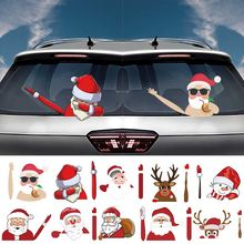 Рождественская наклейка для автомобильного стеклоочистителя