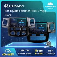 Android 10,0 DSP Auto Radio Multimedia-Player Für Toyota Fortuner Hilux 2 VIgo 2008-2014 AT MT Video Navigation GPS 6G 128G 9 In