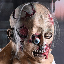Scary Zombie Mask Head Wear Realistic Mask Halloween Cosplay Party Props Headgear Rotten Bloody Mask Mascaras De Latex Realista(China)