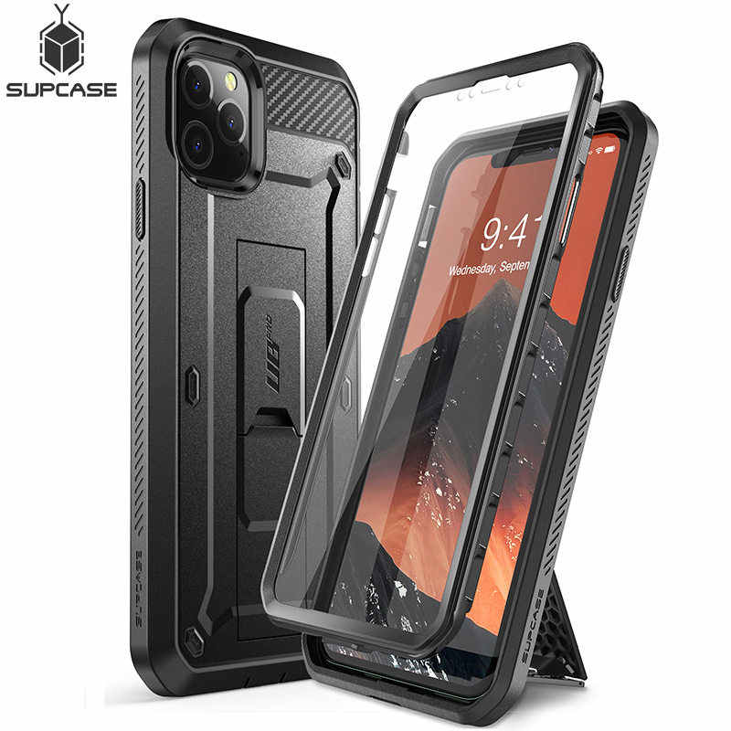 "Untuk iPhone 11 Pro Max Case 6.5 ""(2019) SUPCASE UB Pro Full-Body Kasar Sarung Cover dengan Built-In Screen Protector & Kickstand"