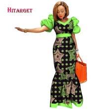 Новинка 2020 женские африканские платья с принтом длинные пышными