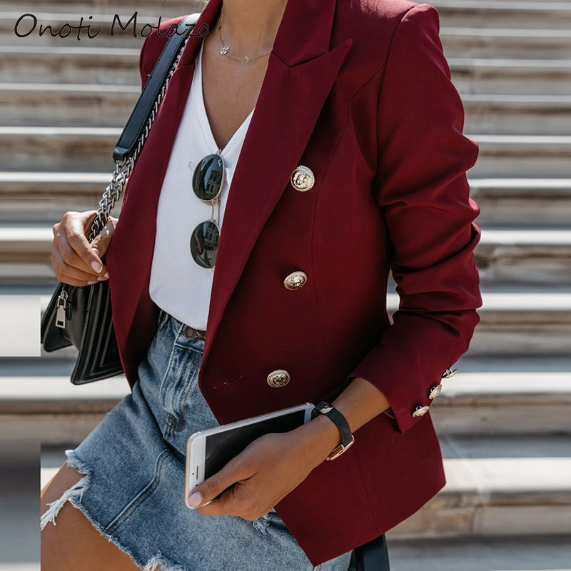 autumn spring jacket women suit coats ladies formal office blazer coat fashion solid female tops veste femme 2020 za vintage ins