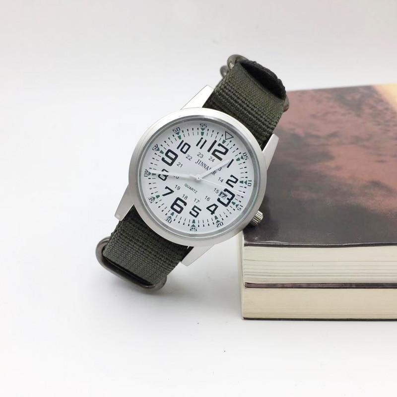 Military Style Relogio Masculino Simple Men Watch Fashion Mens Quartz Watches Man Canvas Band Sports Wristwatches Zegarek Meski