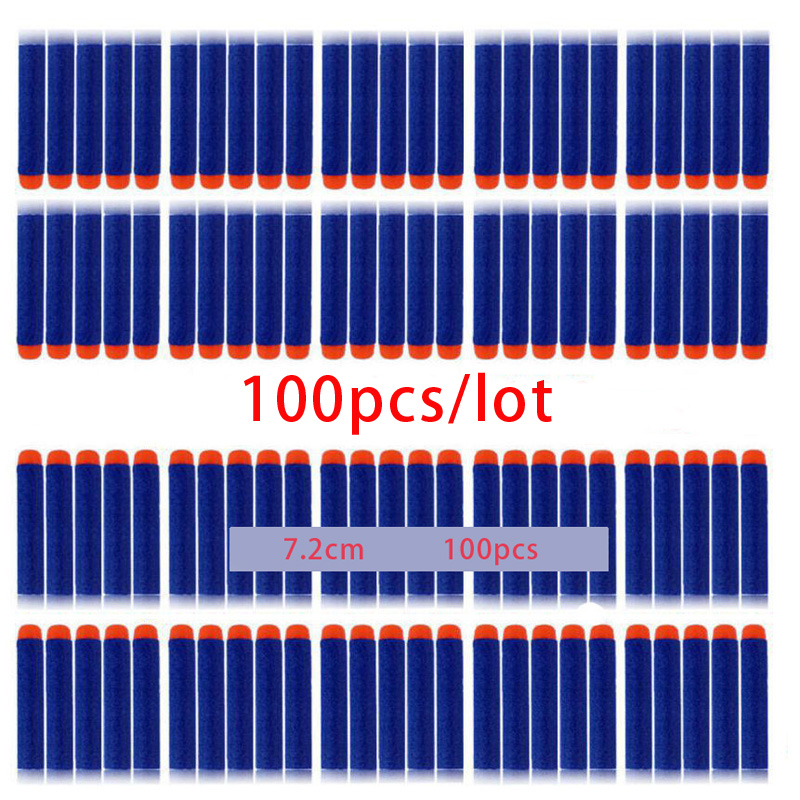 100PCS-For-Nerf-Bullets-Soft-Hollow-Hole-Head-7-2cm-Refill-Darts-Toy-Gun-Bullets-for