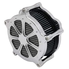 цена на Motorcycle Intake Air Cleaner Filter Venturi Chrome For Harley Sportster 883 XL 1200 Softail Dyna Touring Road King Street Glide
