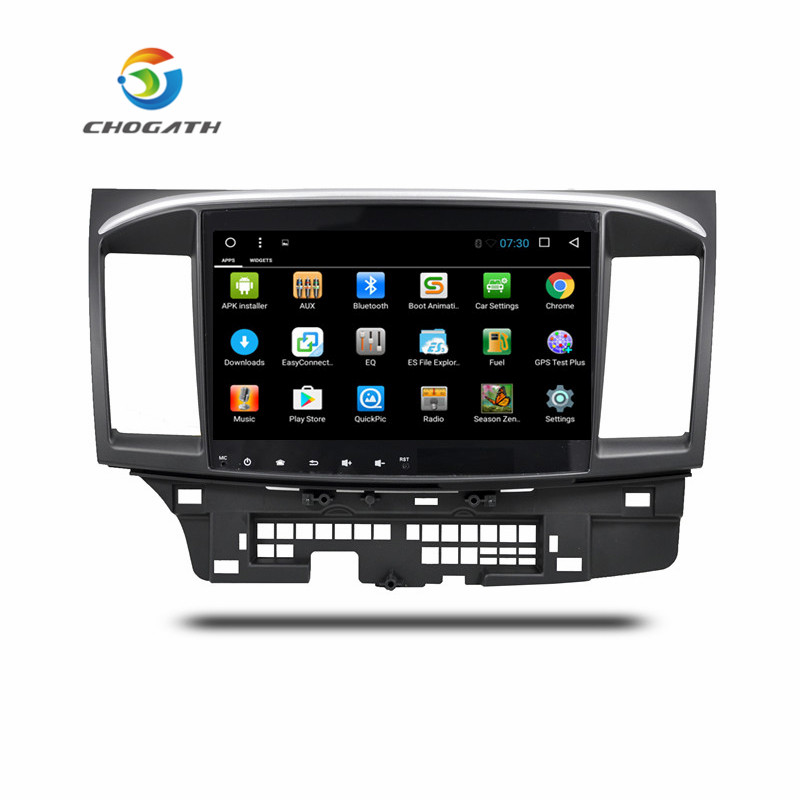ChoGath 10.2 Inch Android 8.0 car Radio GPS Navigation for Mitsubishi LANCER 10 2008 2015 with Touch Screen SWC WiFi Bluetooth