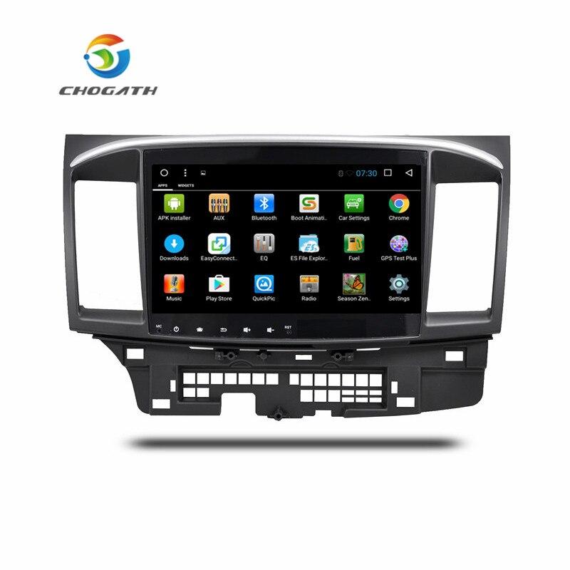 ChoGath 10.2 pouces Android 8.0 voiture Radio GPS Navigation pour Mitsubishi LANCER 10 2008-2015 avec écran tactile SWC WiFi Bluetooth