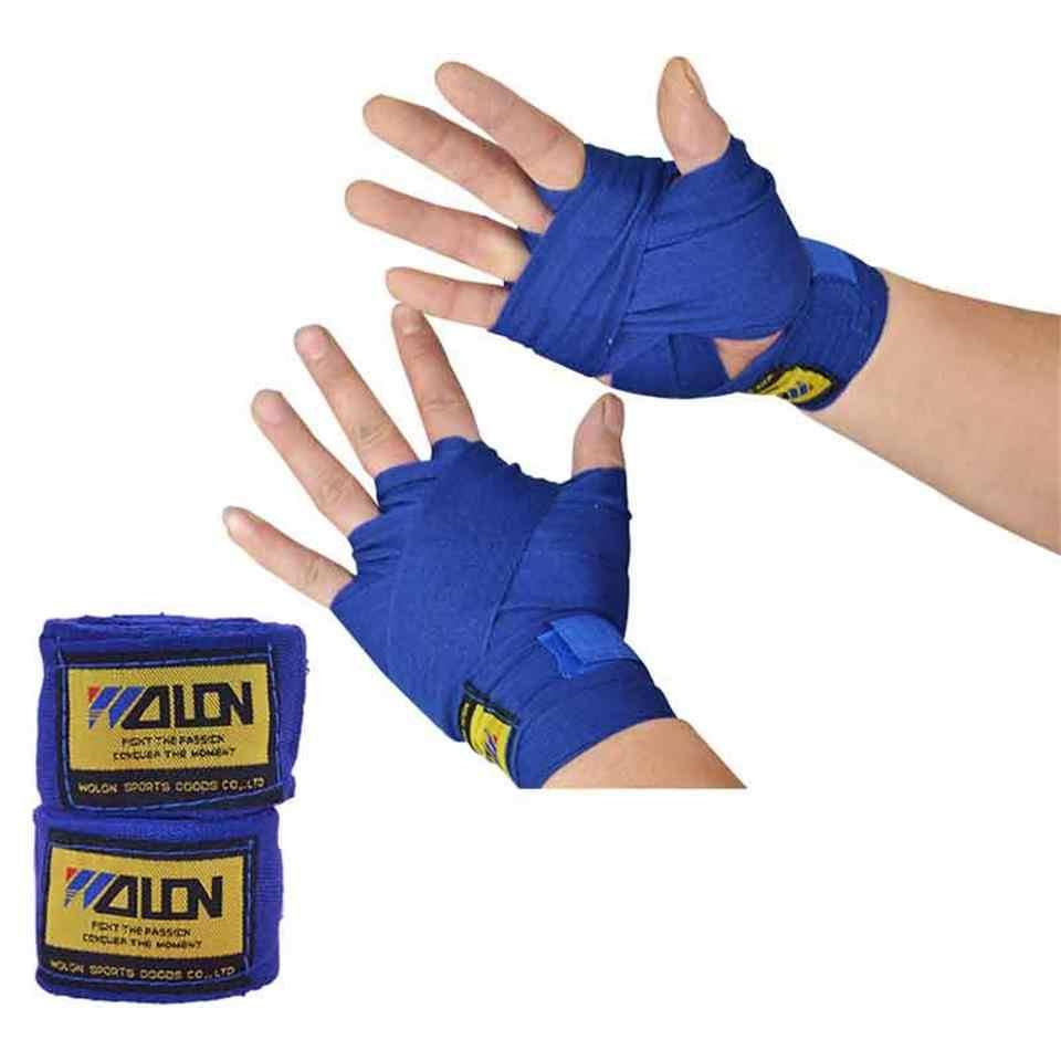 2pcs 2.5m Length Universal Cotton Sports Strap Boxing Bandage Hand Gloves Wraps