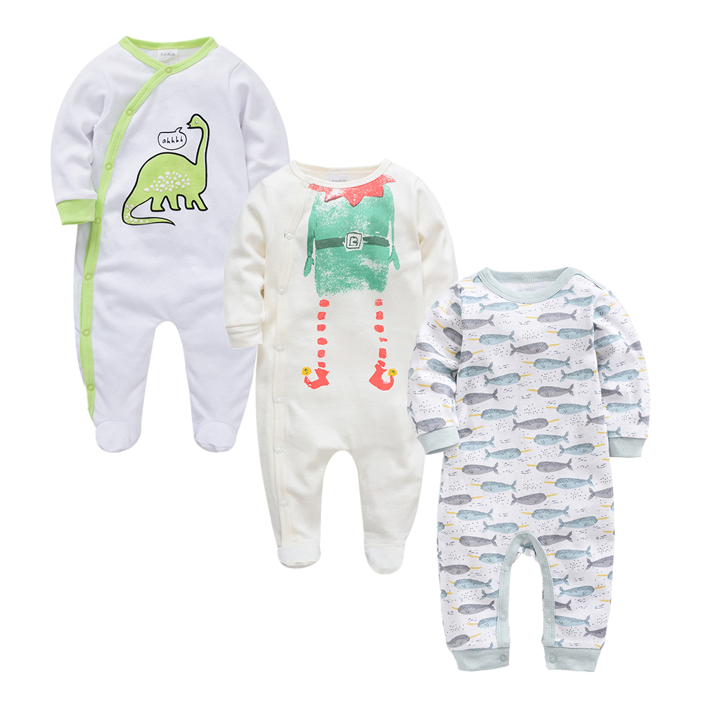 Image 3 - 2019 Autumn Winter 3pcs Baby Boy roupa de bebes Newborn Jumpsuit Long Sleeve Cotton Pajamas 3 6 9 12 Months Rompers Baby Clothes-in Rompers from Mother & Kids