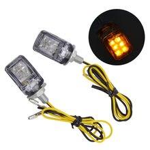 Luces LED de señal de giro pequeña para motocicleta, indicador intermitente de 12V, carcasa cromada para coche y camión, tornillo de 6mm, bombilla de potencia