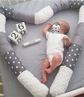 2.5M INS Baby Bumper Bed Braid Pillow Cushion Bumper For Infant Bebe Crib Protector Cot Bumper Newborn Baby BedRoom Decor