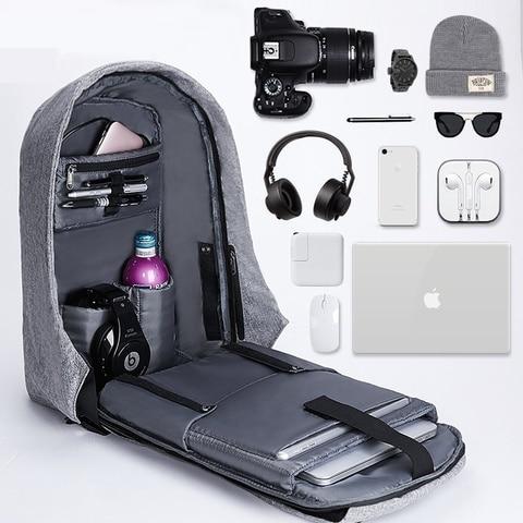 Bag Travel Backpack School Laptop Rucksack Men Canvas Women Shoulder Anti Theft
