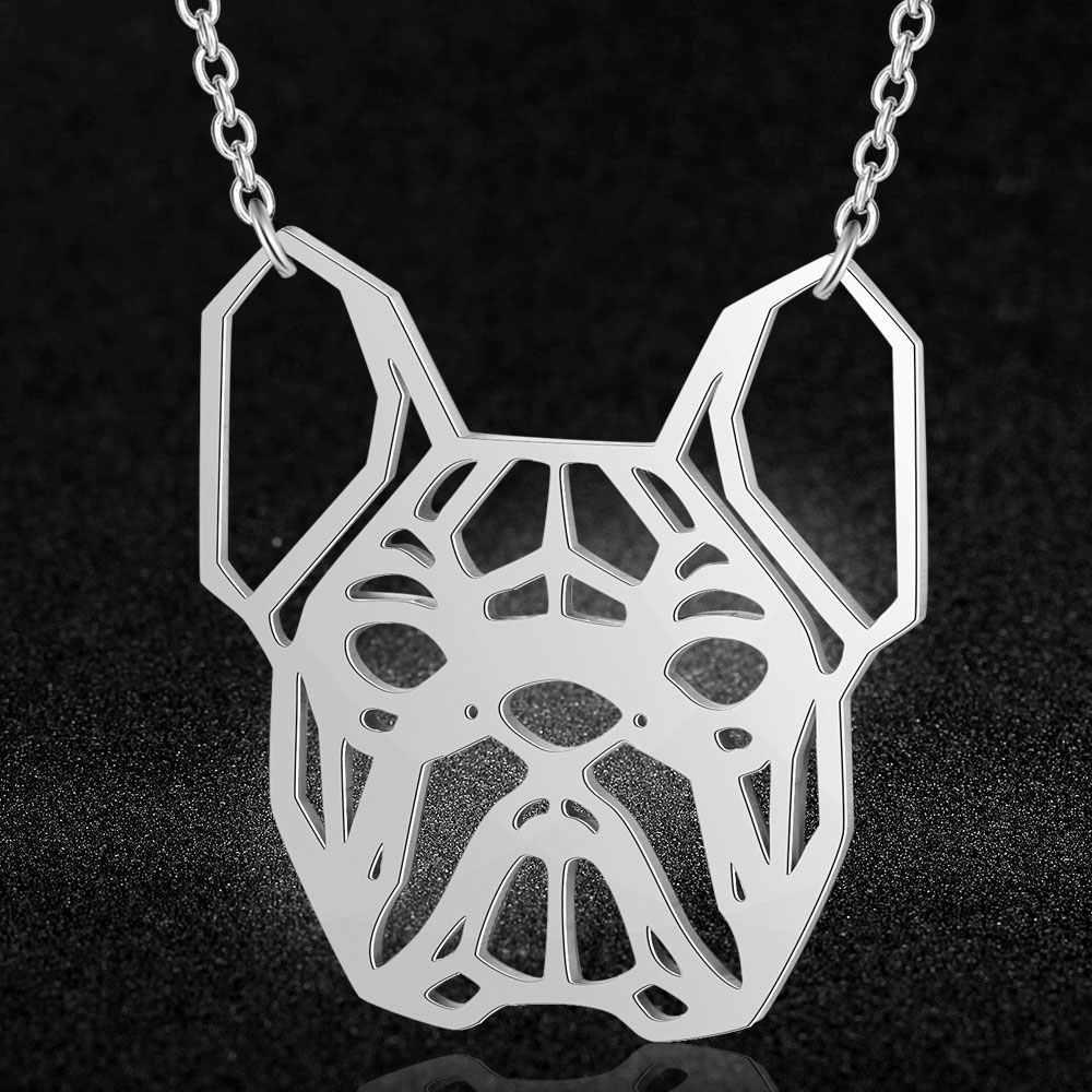 100% prawdziwy naszyjnik ze stali nierdzewnej buldog specjalny prezent moda wisiorek z motywem zwierzęcym naszyjniki Trend naszyjniki biżuteria Super jakość