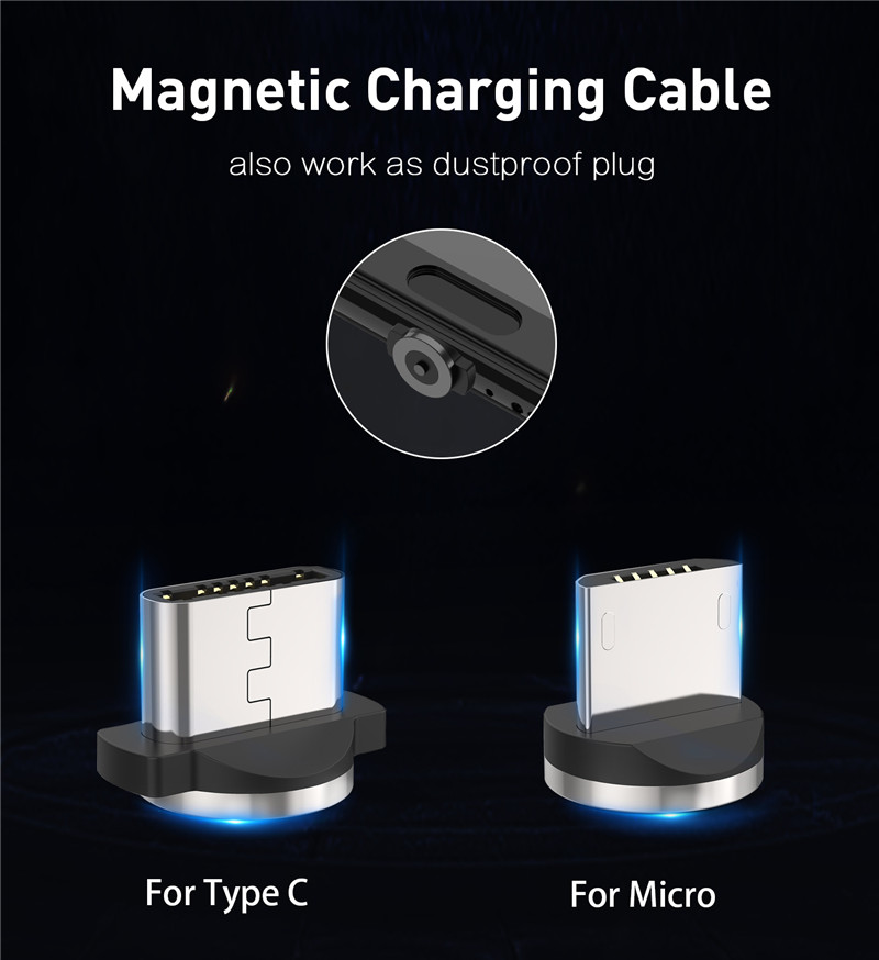 Magnetic Micro USB Charge Cable For Samsung Galaxy A10 J8 J6 J4 A2 Core cellphone QC 3.0 USB Fast charger Xiaomi 7A Redmi 5 6 7