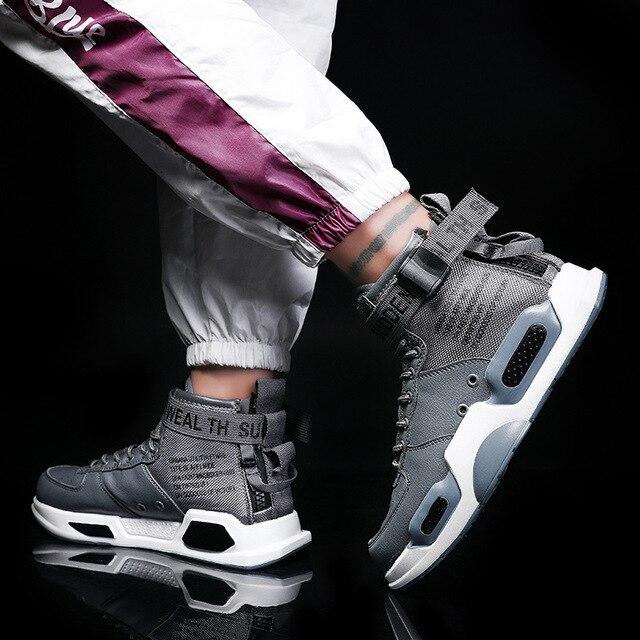 Купить кроссовки yween мужские кожаные дышащие высокие повседневная картинки