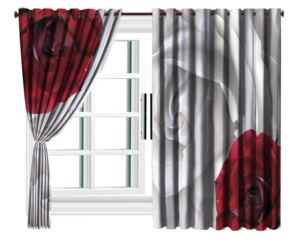 top red and gray curtains ideas