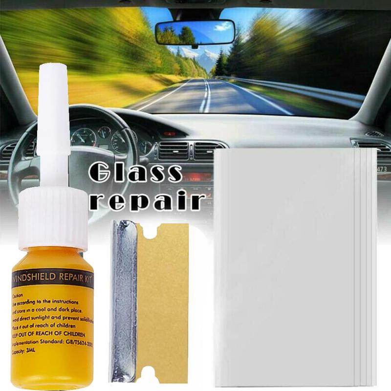 Car Windshield Repair Agent Automotive Glass Window Scratch Crack Restore Screen Polishing Repair Tool Kit