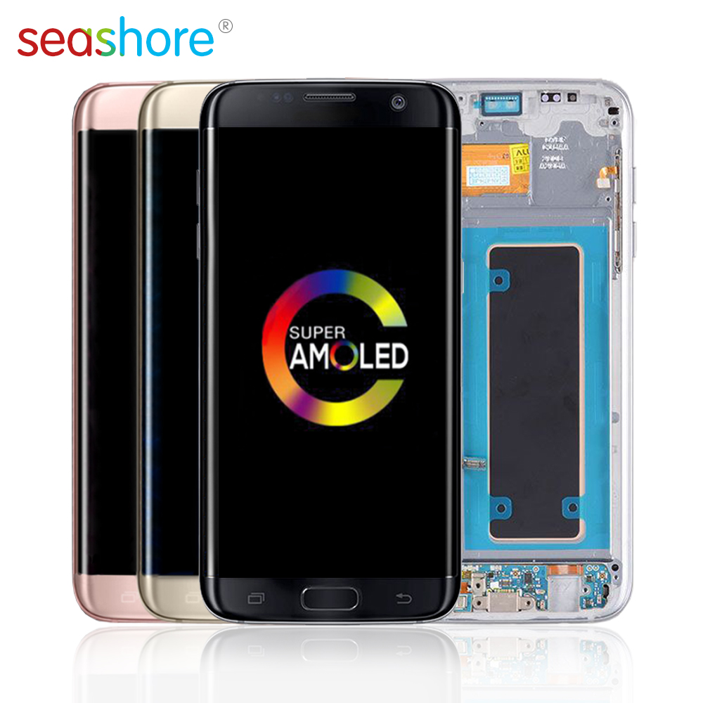 ORIGINAL For SAMSUNG Galaxy S7 Edge LCD Touch Screen Digitizer Assembly For Samsung S7 Edge Display with Frame Replacement G935 image