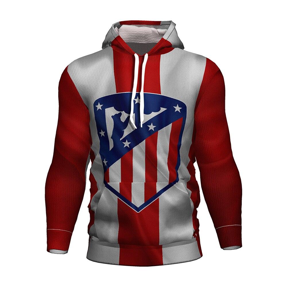 Atletico Madrid Soccer Jersey 2018 2019 Football 3d Hoodie Atletico De Athletico Madrid Griezmann Men/kids Kit Tracksuit Hoodies