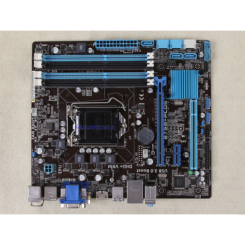 For ASUS B75M-PLUS Desktop motherboard MB B75 LGA 1155 micro ATX DDR3 32GB SATA3.0 USB3.0 100% fully Tested Free shipping 3