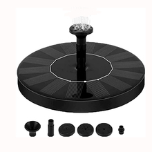 цена на Solar Fountain Watering kit Solar Pump Pool Pond Submersible Water fall Floating Solar Panel Water Fountain For Garden decor